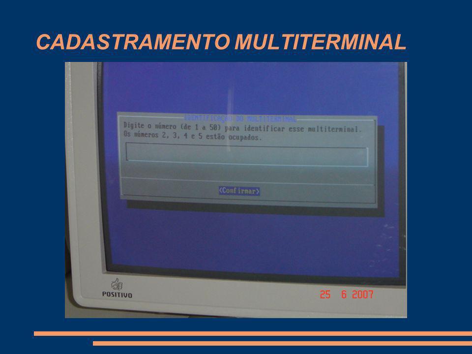 CADASTRAMENTO MULTITERMINAL