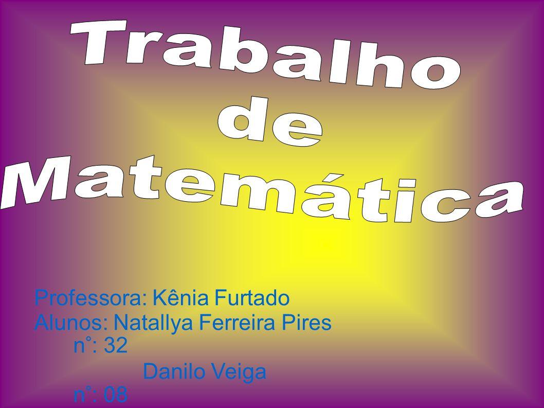 Professora: Kênia Furtado Alunos: Natallya Ferreira Pires n°: 32 Danilo Veiga n°: 08
