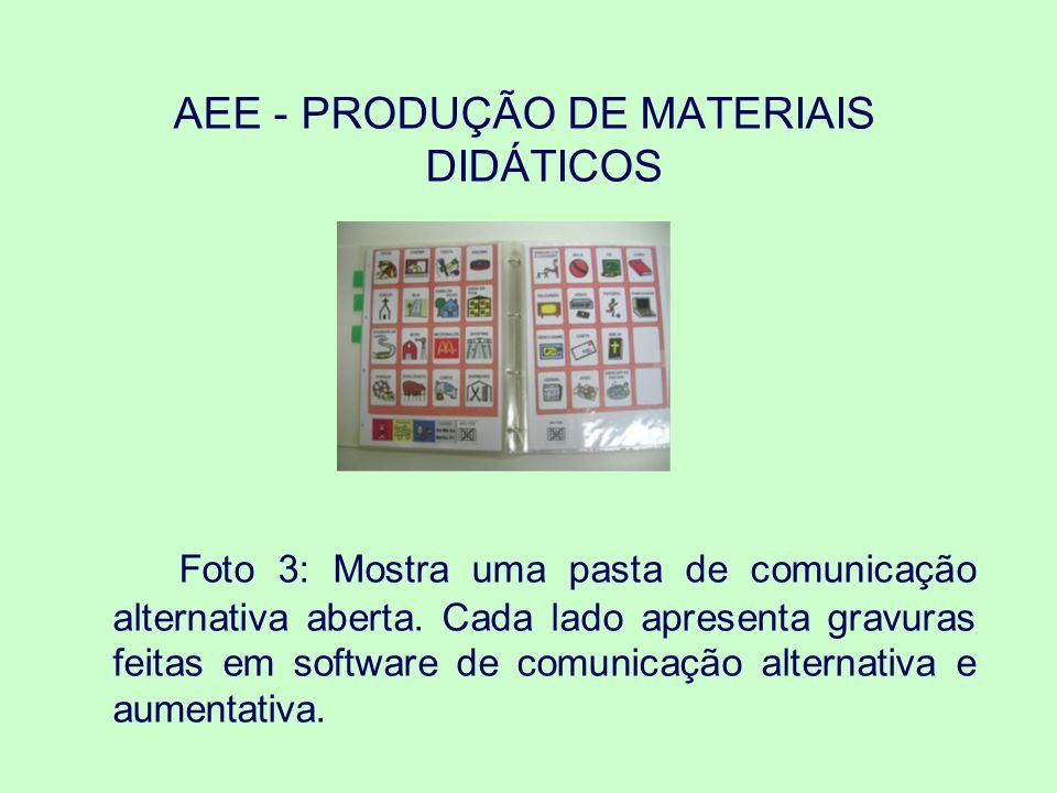 Foto 4: exibe materiais produzidos com papel cartão para o ensino da LIBRAS.