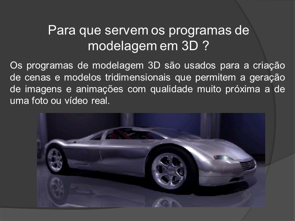 Para que servem os programas de modelagem em 3D .