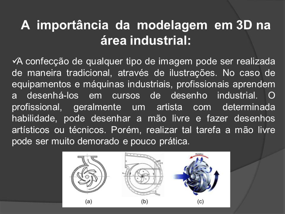 A importância da modelagem em 3D na área industrial: A confecção de qualquer tipo de imagem pode ser realizada de maneira tradicional, através de ilustrações.