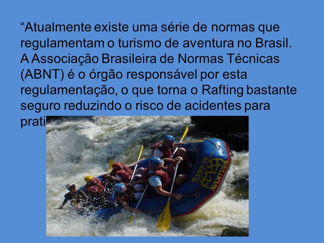 Atualmente existe uma série de normas que regulamentam o turismo de aventura no Brasil. A Associação Brasileira de Normas Técnicas (ABNT) é o órgão re