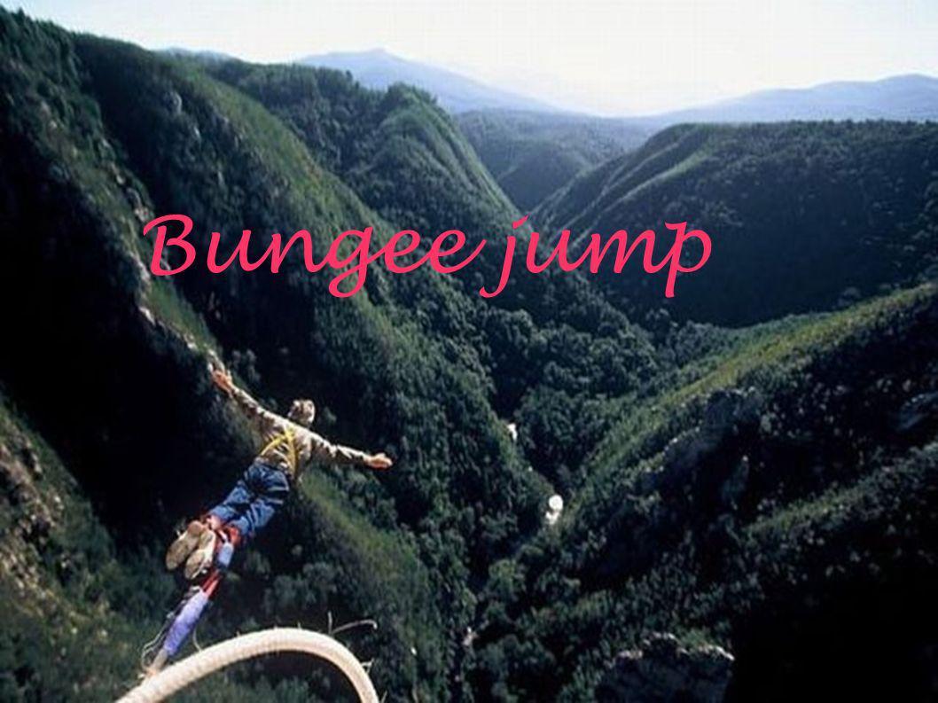 O que é: Bungee jumping é um esporte radical praticado por muitos aventureiros corajosos, que consiste em saltar para o vázio amarrado aos tornozelos a uma corda elástica.