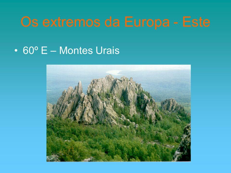 Os extremos da Europa - Este 60º E – Montes Urais