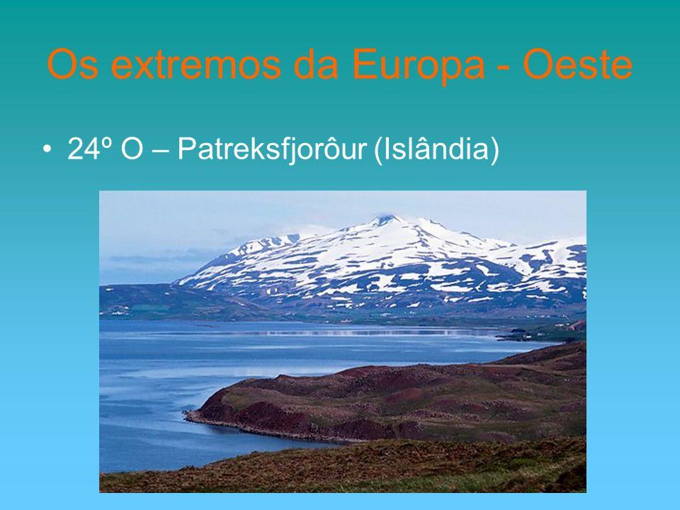 Os extremos da Europa - Oeste 24º O – Patreksfjorôur (Islândia)