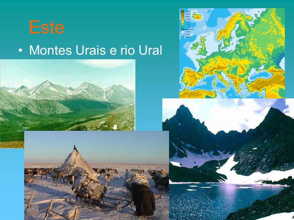 Montes Urais e rio Ural Este
