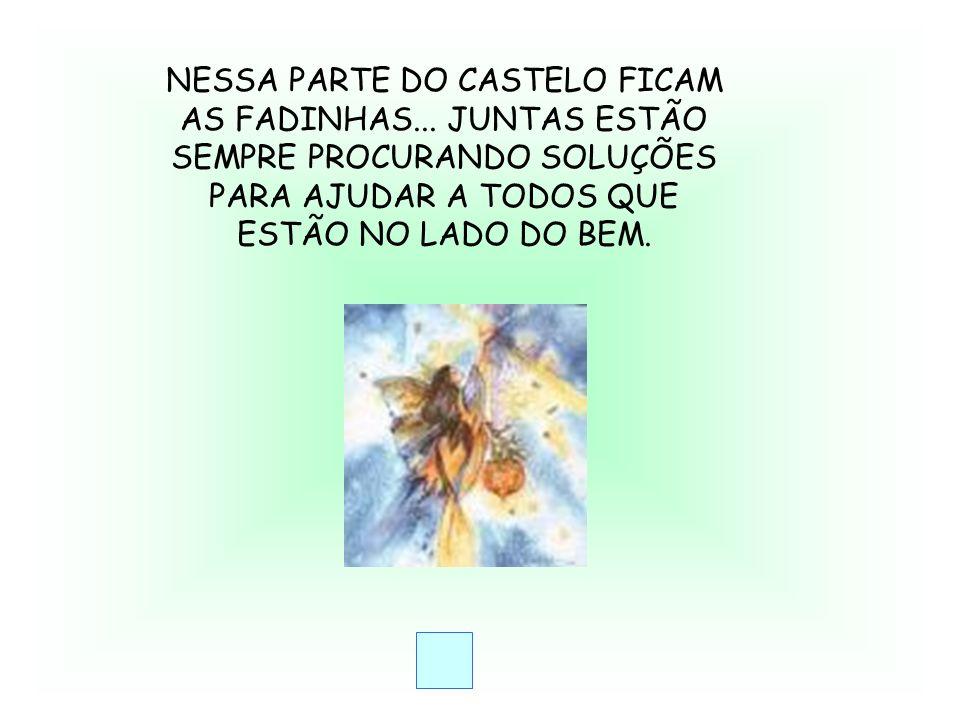 NESSA PARTE DO CASTELO FICAM AS FADINHAS...