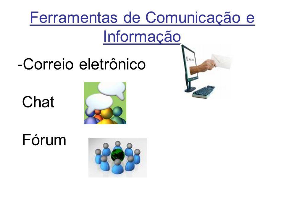 Ferramentas de Comunicação e Informação -Correio eletrônico Chat Fórum