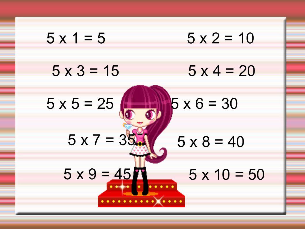 6 x 1 = 6 6 x 2 = 12 6 x 3 = 18 6 x 4 = 24 6 x 5 = 306 x 6 = 36 6 x 7 = 42 6 x 8 = 48 6 x 9 = 54 6 x 10 = 60