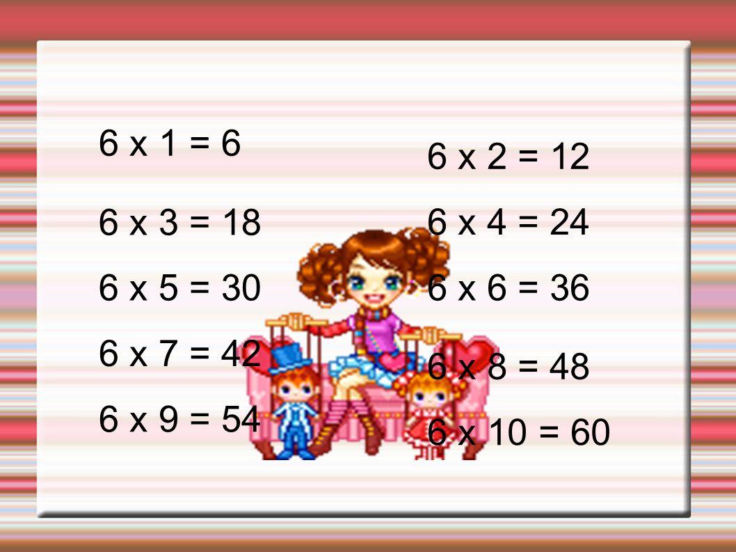 7 x 1 = 77 x 2 = 14 7 x 3 = 21 7 x 4 = 28 7 x 5 = 35 7 x 6 = 42 7 x 7 = 49 7 x 8 =56 7 x 9 = 637 x 10 = 70