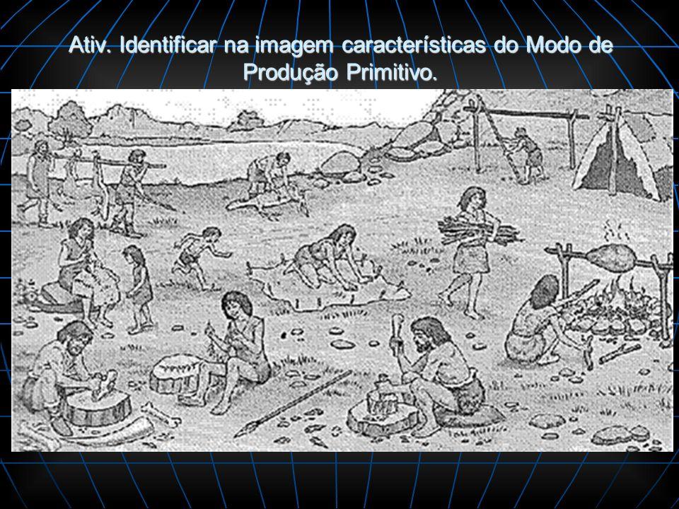 Ativ. Identificar na imagem características do Modo de Produção Primitivo.