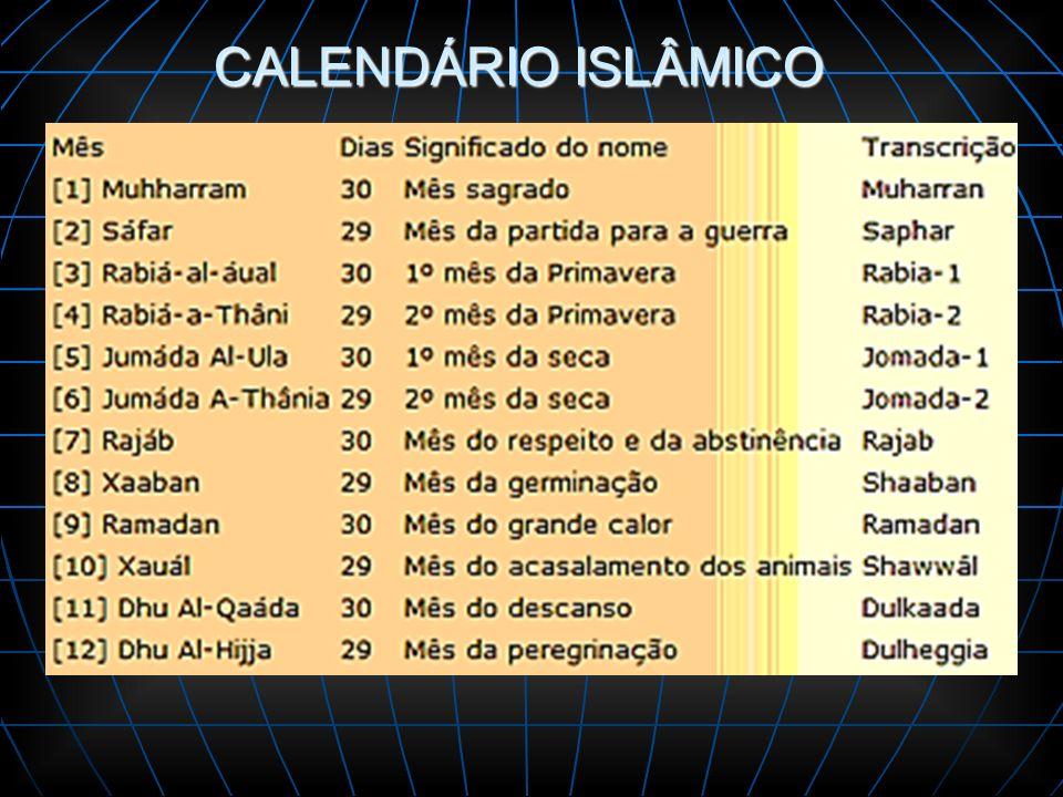 CALENDÁRIO ISLÂMICO