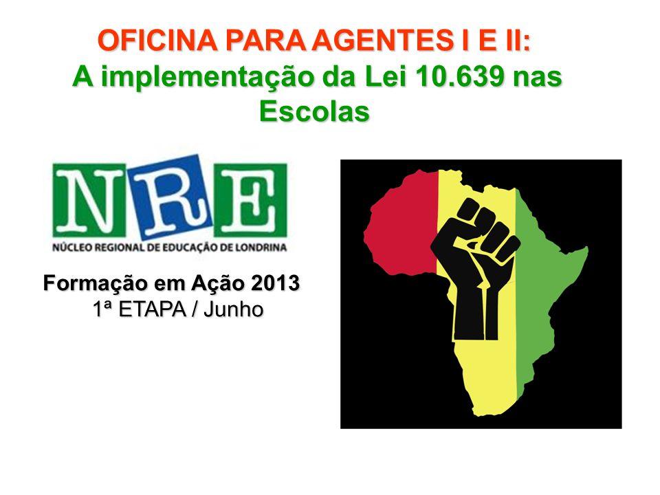 Lei 10.639, de 9 de janeiro de 2003 Altera a Lei no 9.394/96, que estabelece as diretrizes e bases da educação nacional, para incluir no currículo oficial da Rede de Ensino a obrigatoriedade da temática História e Cultura Afro-Brasileira , e dá outras providências.