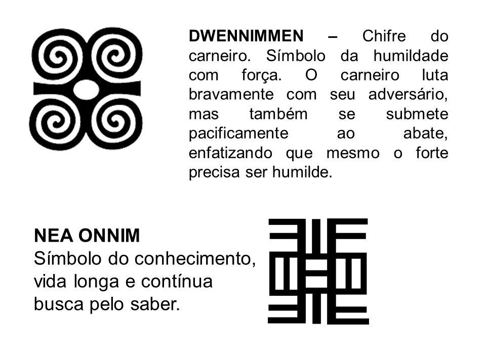 DWENNIMMEN – Chifre do carneiro. Símbolo da humildade com força. O carneiro luta bravamente com seu adversário, mas também se submete pacificamente ao