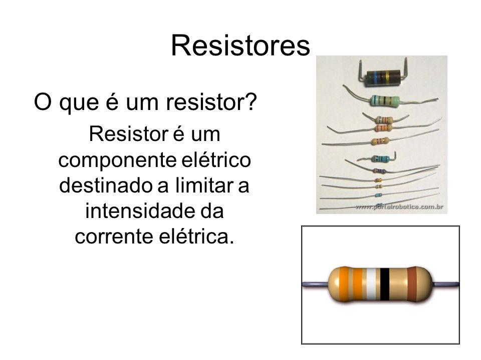 Resistores O que é um resistor? Resistor é um componente elétrico destinado a limitar a intensidade da corrente elétrica.