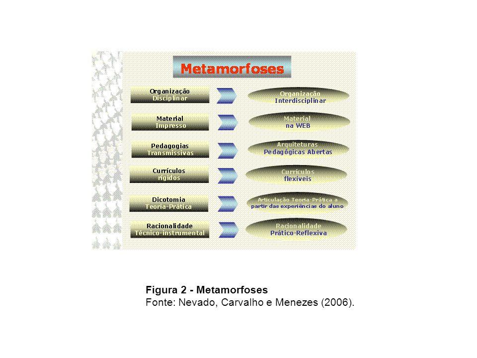 Figura 2 - Metamorfoses Fonte: Nevado, Carvalho e Menezes (2006).