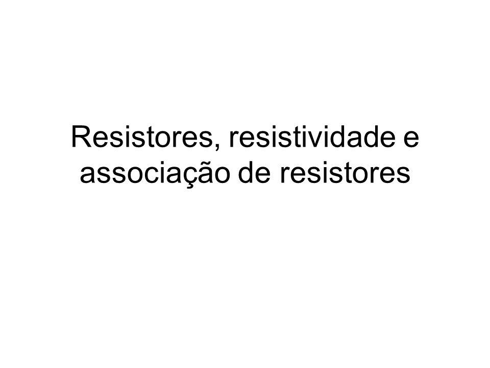Resistores O que é um resistor.
