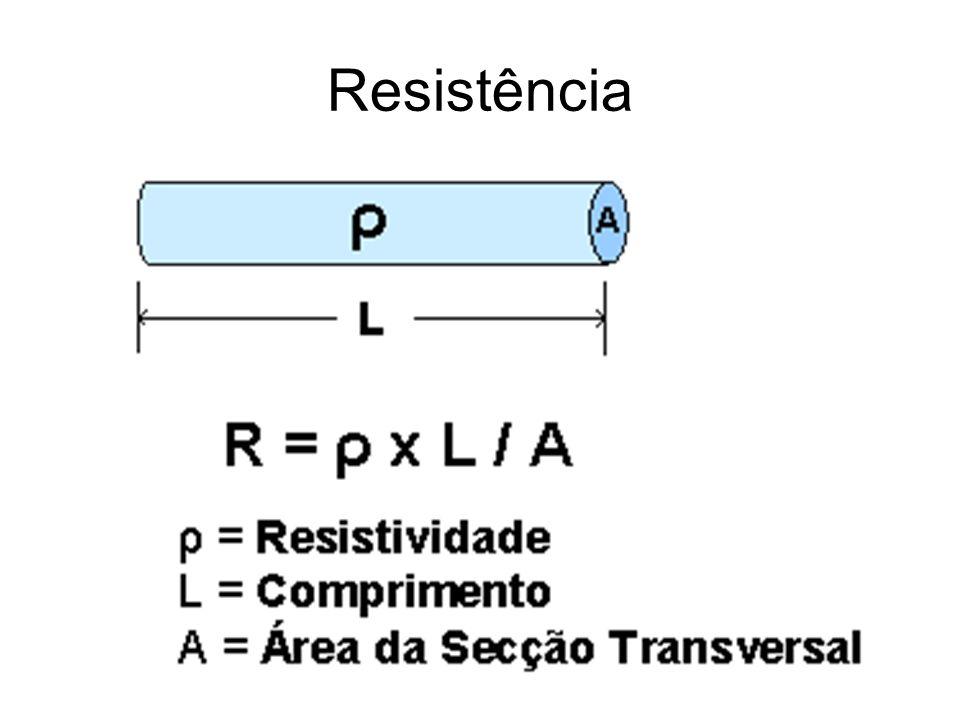 Resistividade Resistividade é uma característica do meio, cada meio possui uma resistividade diferente dependendo dos materiais de que é composto.