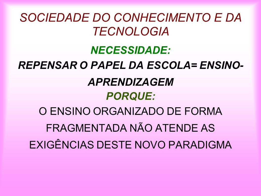 DESAFIO= DAR NOVA VIDA AO CURRÍCULO DA ESCOLA FORMAÇÃO DO PROFESSOR É IMPRESSINDÍVEL.