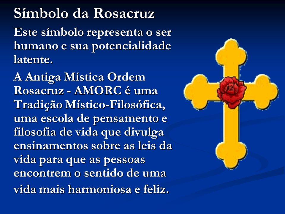 Símbolo da Rosacruz Este símbolo representa o ser humano e sua potencialidade latente.