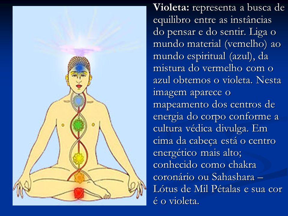 Violeta: representa a busca de equilibro entre as instâncias do pensar e do sentir.