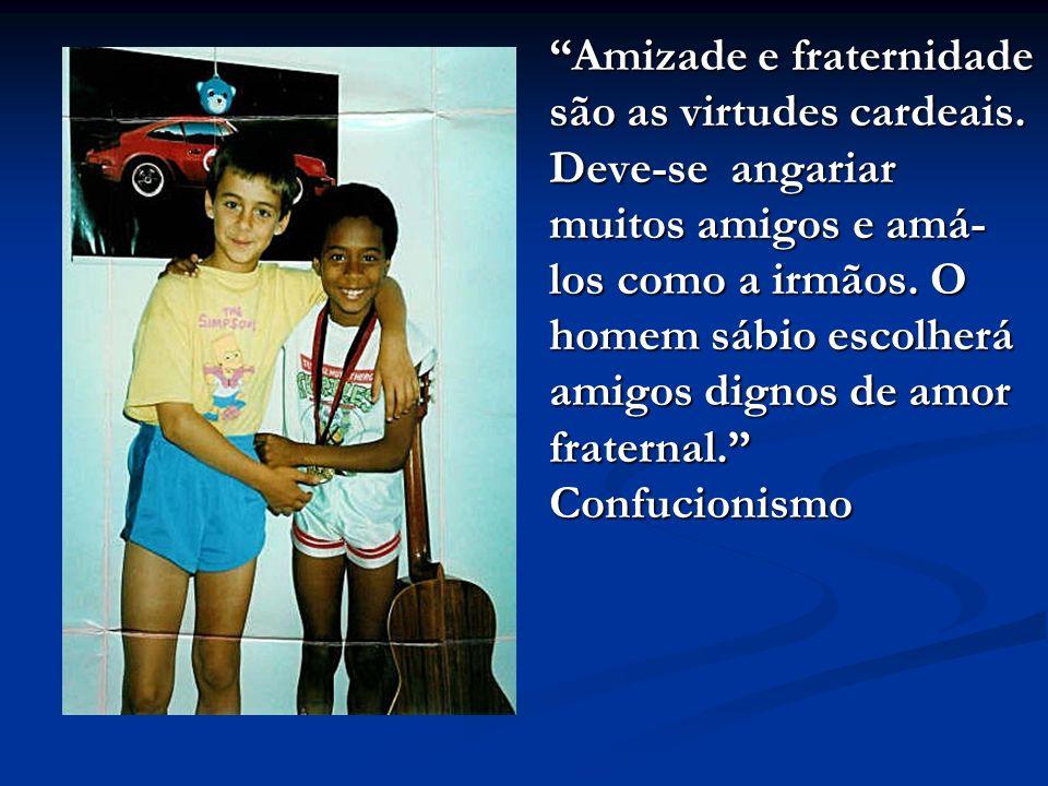 Amizade e fraternidade são as virtudes cardeais.