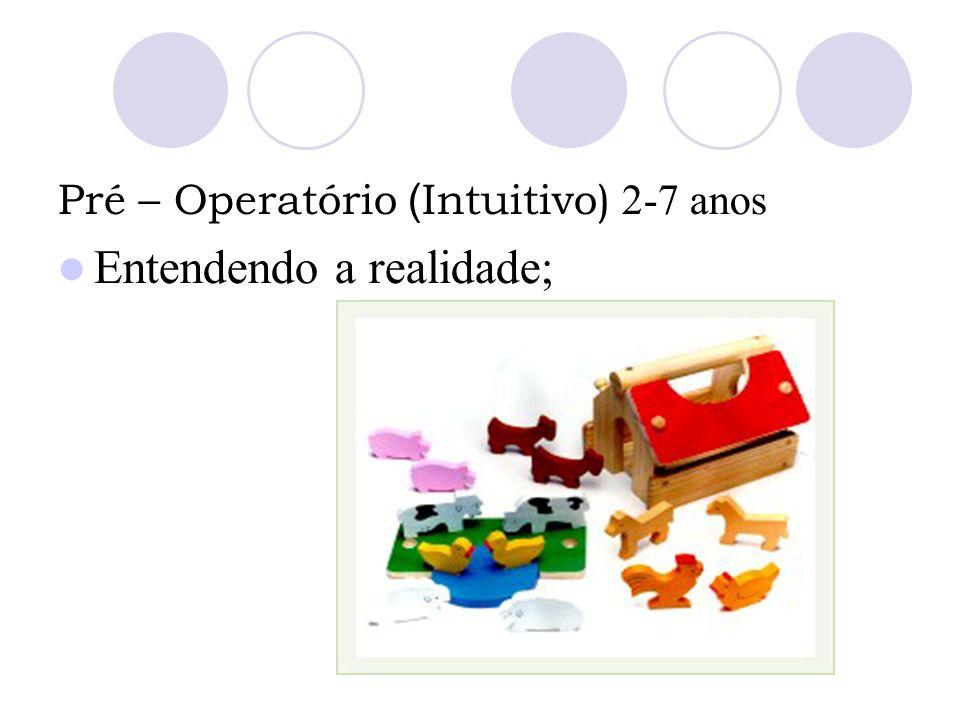 Pré – Operatório ( Intuitivo) 2-7 anos Entendendo a realidade;