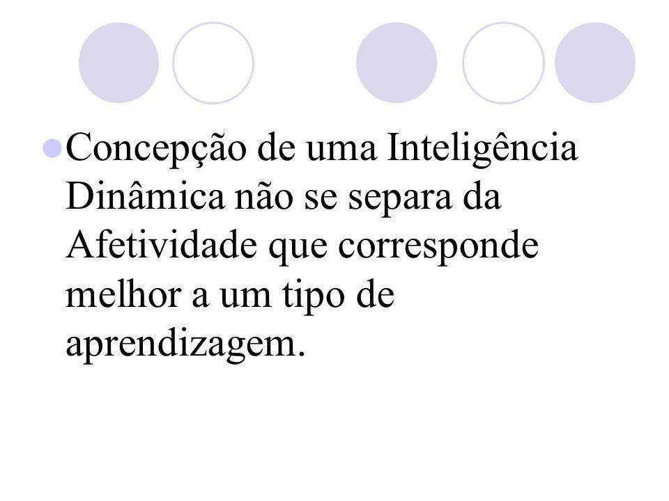 Concepção de uma Inteligência Dinâmica não se separa da Afetividade que corresponde melhor a um tipo de aprendizagem.
