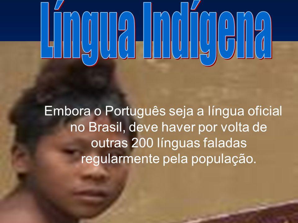 Embora o Português seja a língua oficial no Brasil, deve haver por volta de outras 200 línguas faladas regularmente pela população.
