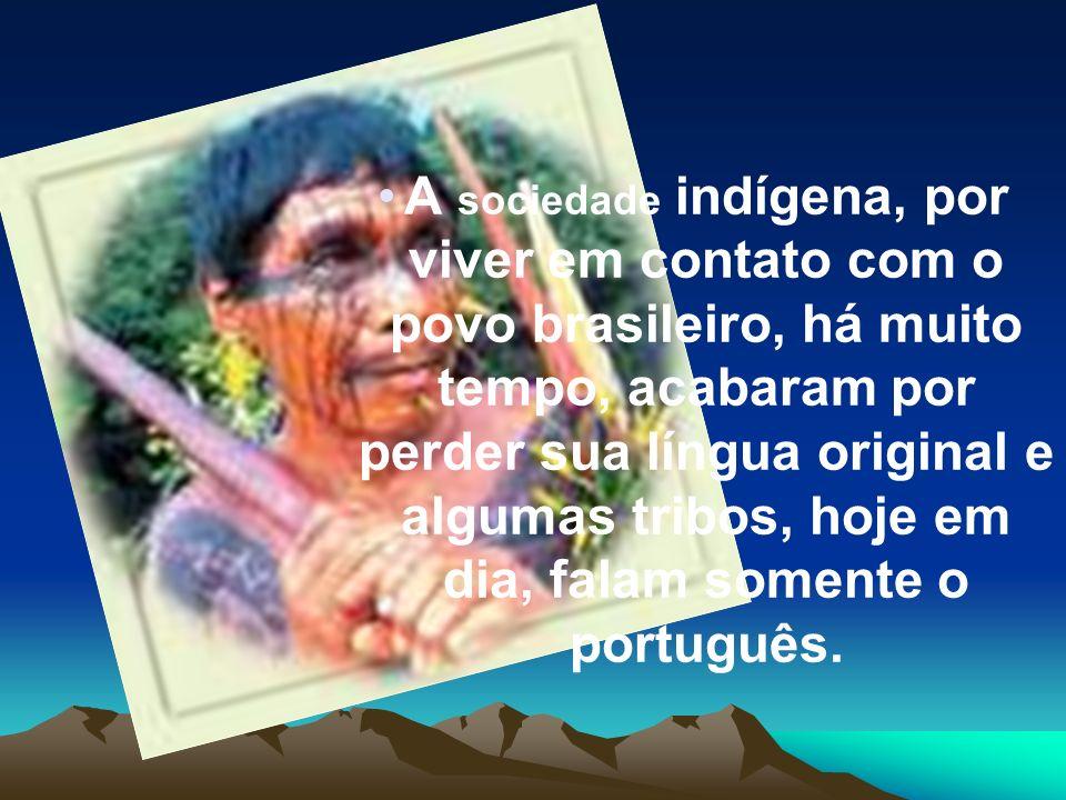 A sociedade indígena, por viver em contato com o povo brasileiro, há muito tempo, acabaram por perder sua língua original e algumas tribos, hoje em di