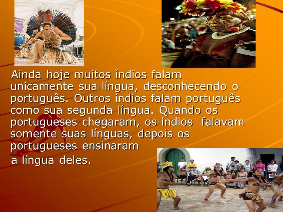 Ainda hoje muitos índios falam unicamente sua língua, desconhecendo o português.