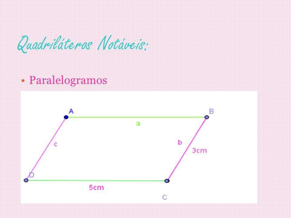 Quadriláteros Notáveis: Paralelogramos
