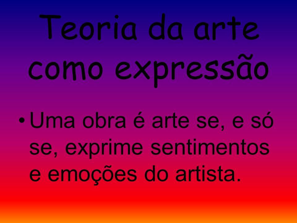 Teoria da arte como imitação Uma obra é arte se, e só se, é produzida pelo homem e imita algo.