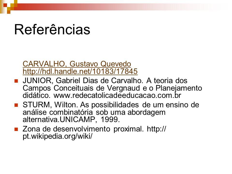 Referências CARVALHO, Gustavo Quevedo http://hdl.handle.net/10183/17845 CARVALHO, Gustavo Quevedo http://hdl.handle.net/10183/17845 JUNIOR, Gabriel Di