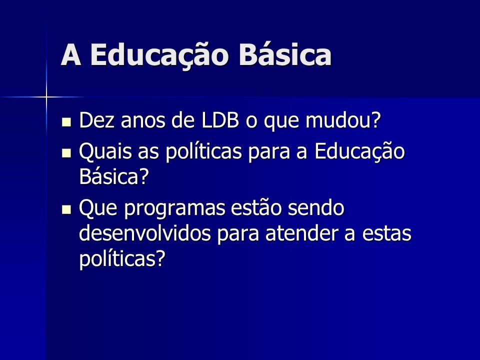 A Educação Básica Dez anos de LDB o que mudou.Dez anos de LDB o que mudou.