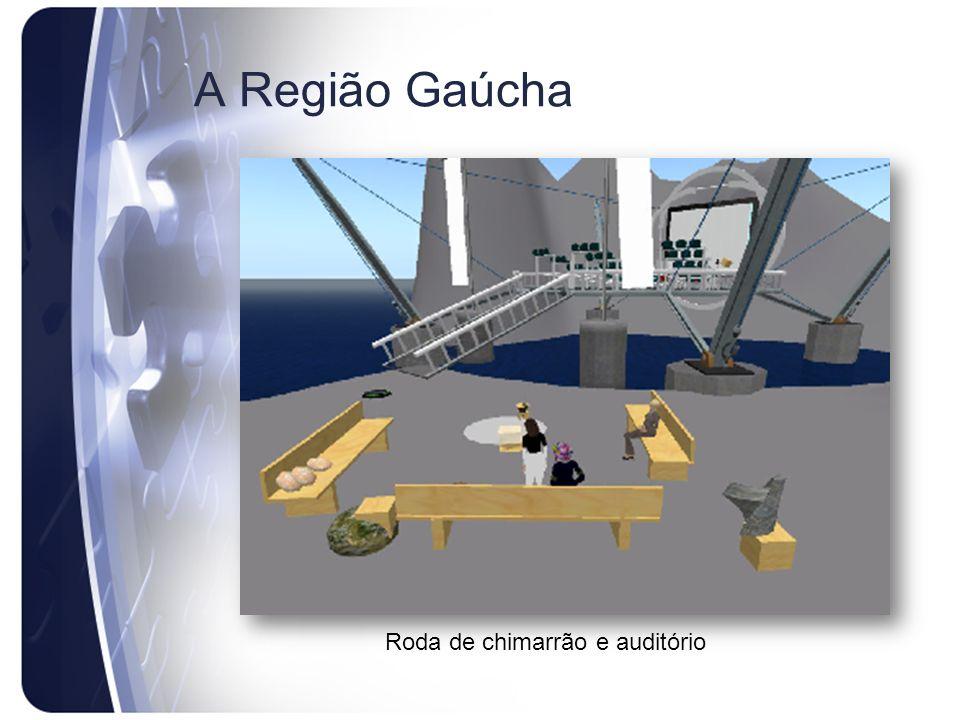 A Região Gaúcha Roda de chimarrão e auditório