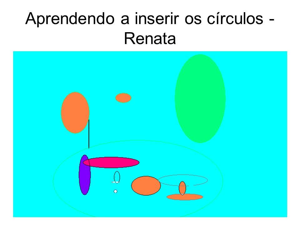 Aprendendo a inserir os círculos - Renata