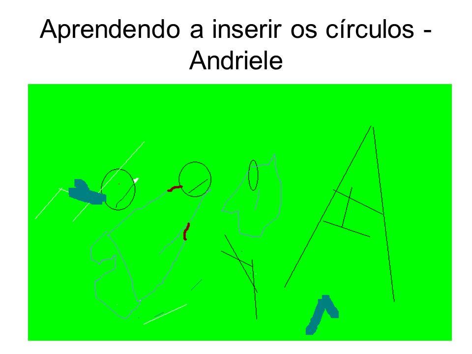 Aprendendo a inserir os círculos - Bianca