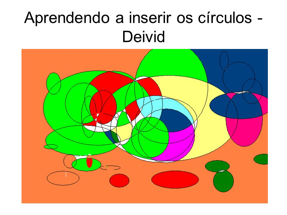 Aprendendo a inserir os círculos - Deivid