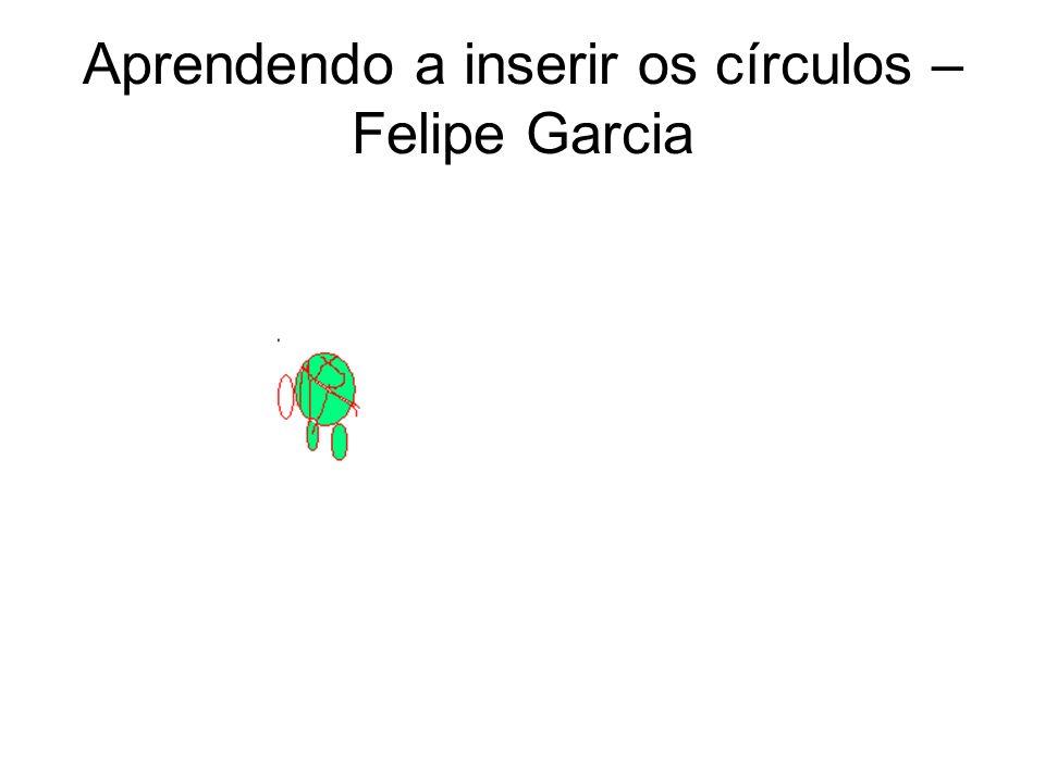 Aprendendo a inserir os círculos - Gabrielly