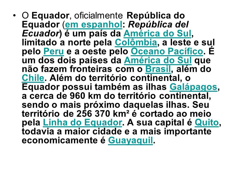 O Equador, oficialmente República do Equador (em espanhol: República del Ecuador) é um país da América do Sul, limitado a norte pela Colômbia, a leste
