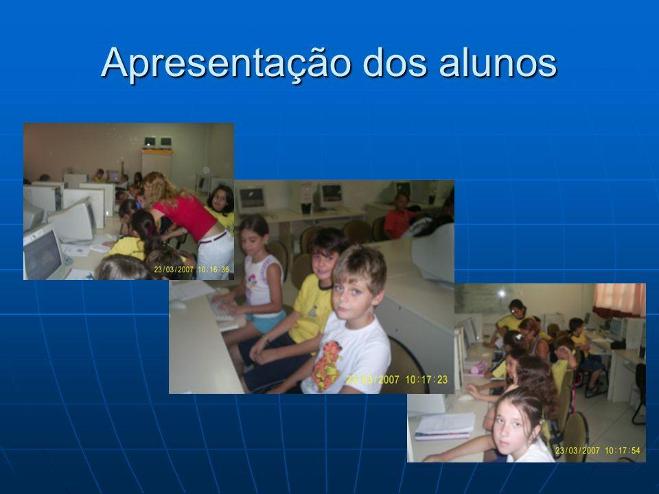 Apresentação dos alunos