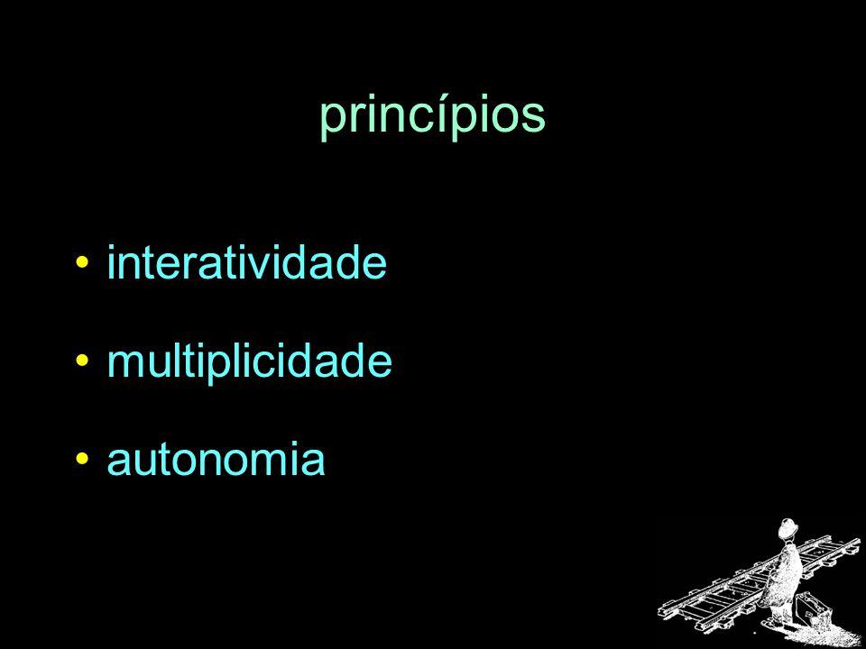 princípios interatividade multiplicidade autonomia