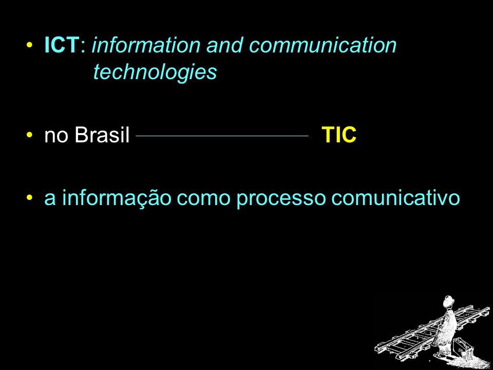 ICT: information and communication technologies no Brasil TIC a informação como processo comunicativo