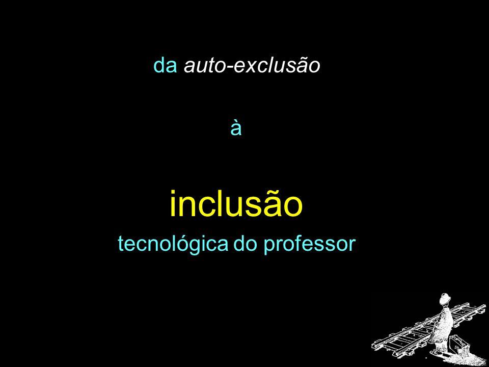 da auto-exclusão à inclusão tecnológica do professor