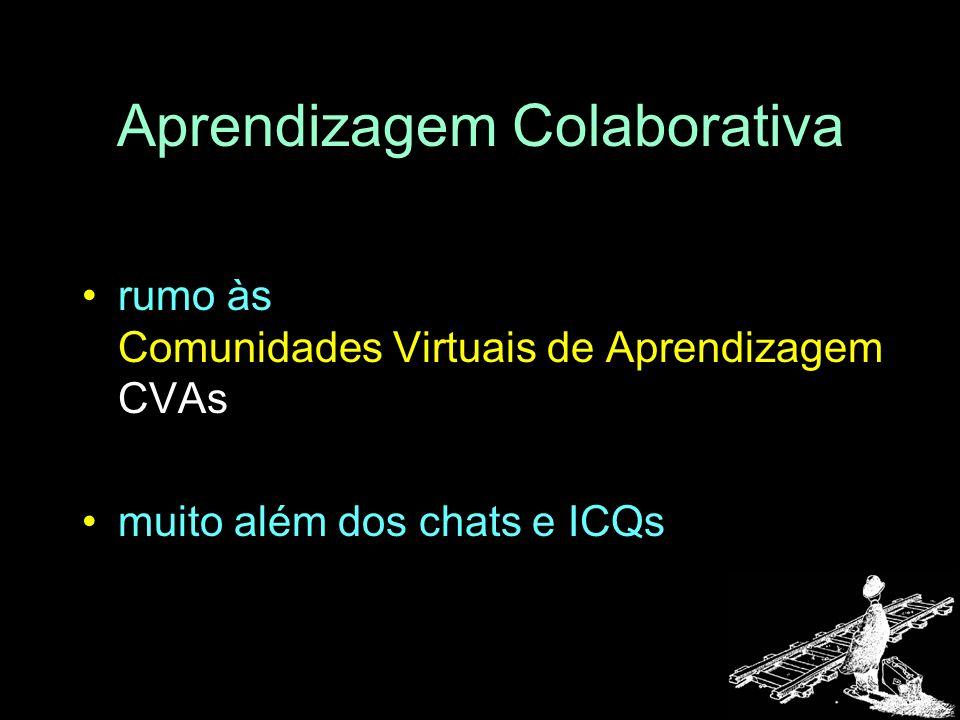 Aprendizagem Colaborativa rumo às Comunidades Virtuais de Aprendizagem CVAs muito além dos chats e ICQs