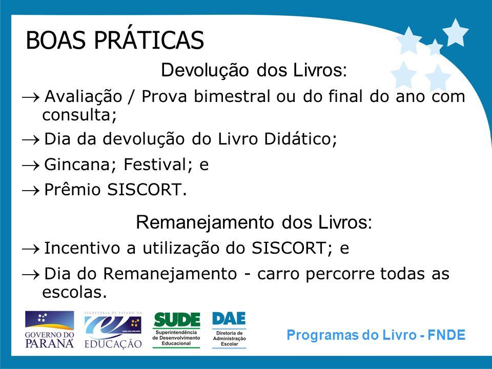 TERMO DE COMPROMISSO ENTRE O FNDE E A SEED-PR Programas do Livro - FNDE