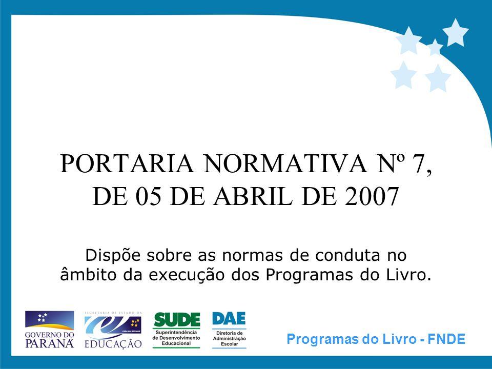 PORTARIA NORMATIVA Nº 7 Art.