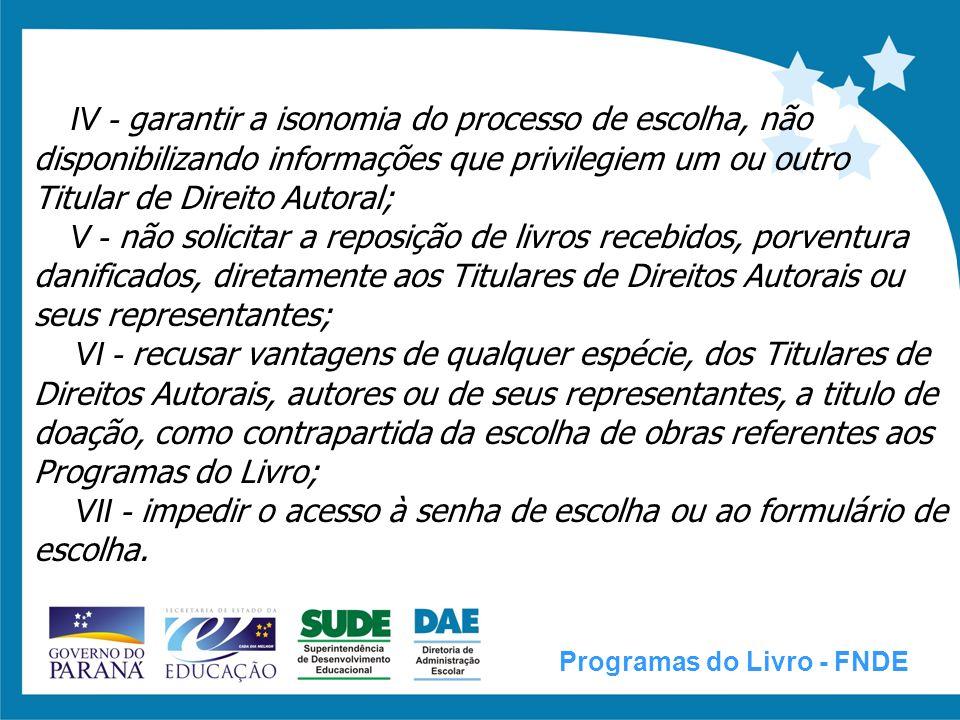 EMPRESA BRASILEIRA DE CORREIOS E TELÉGRAFOS (CORREIOS) Programas do Livro - FNDE