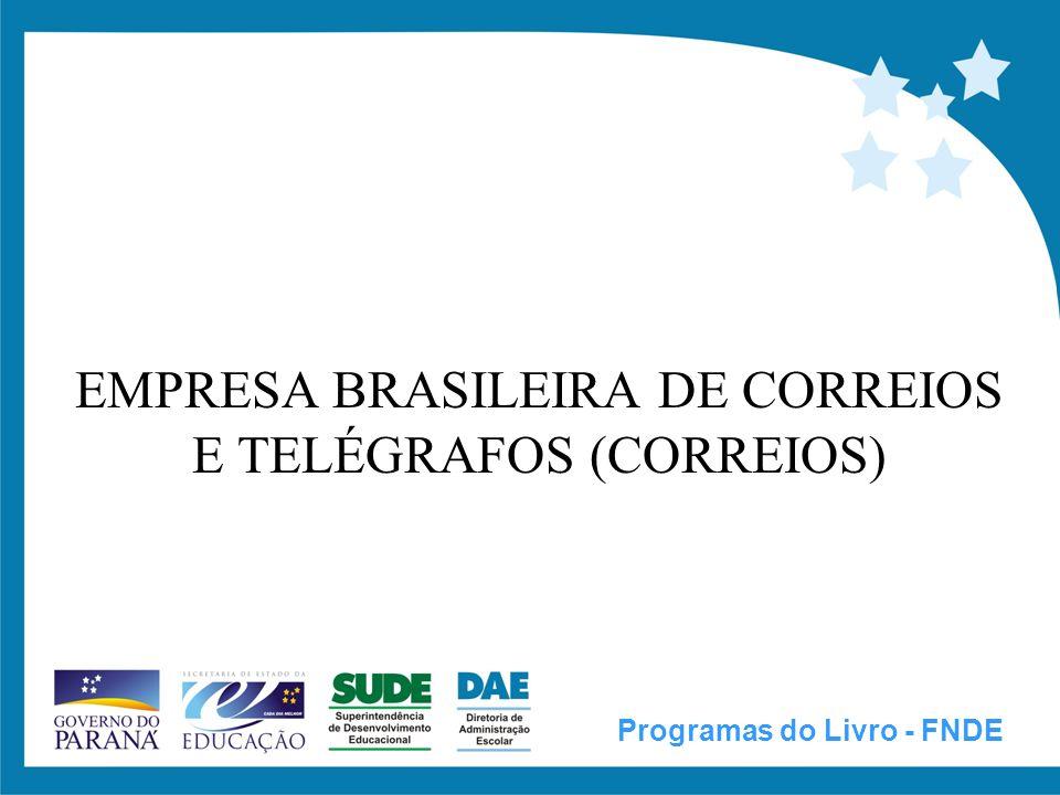 Contrato Especial de Prestação de Serviço, nº 12.919/2004, entre o FNDE e CORREIOS DO OBJETO CLÁUSULA PRIMEIRA:...